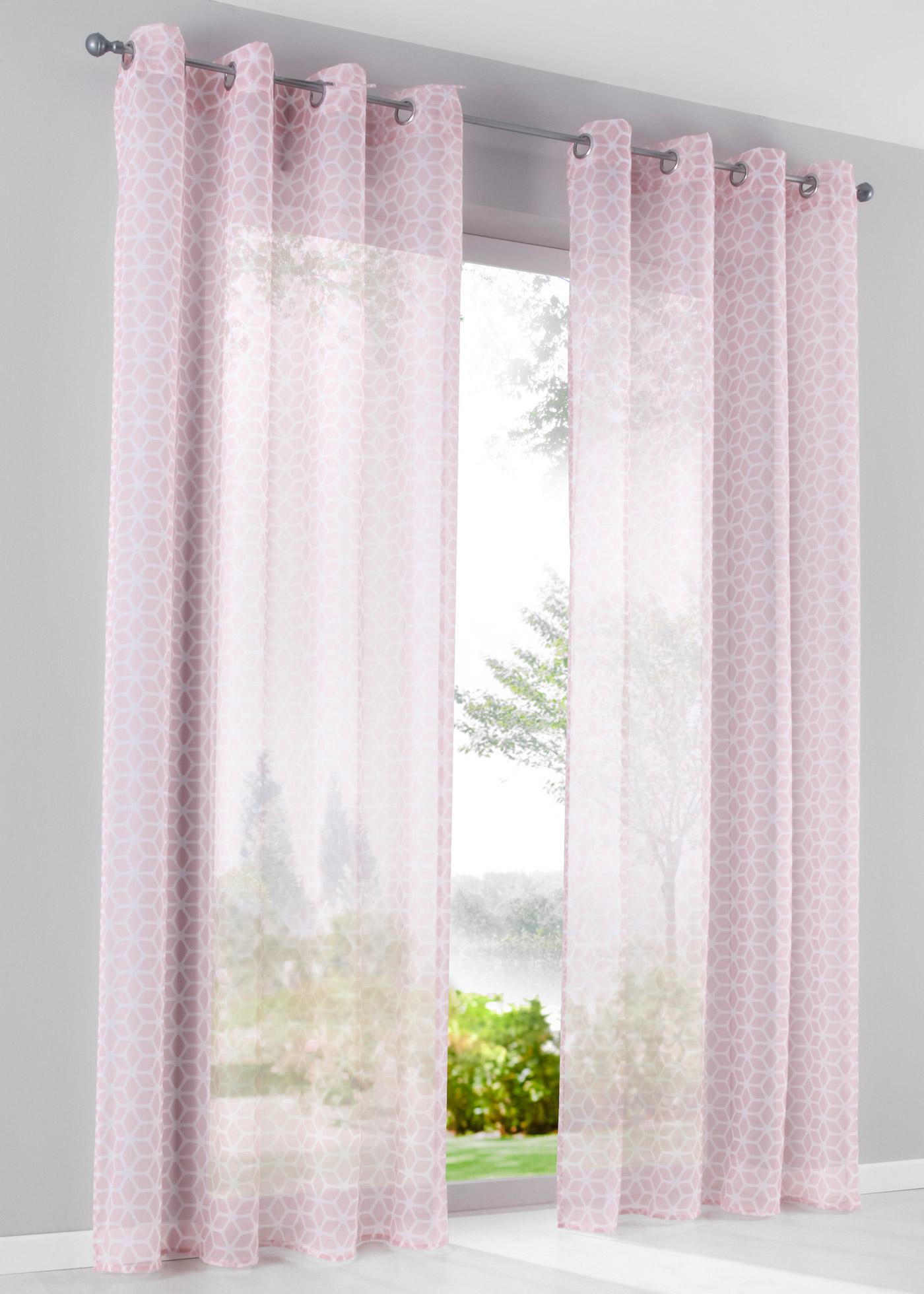 Záclona Gino (1 ks) - Růžová