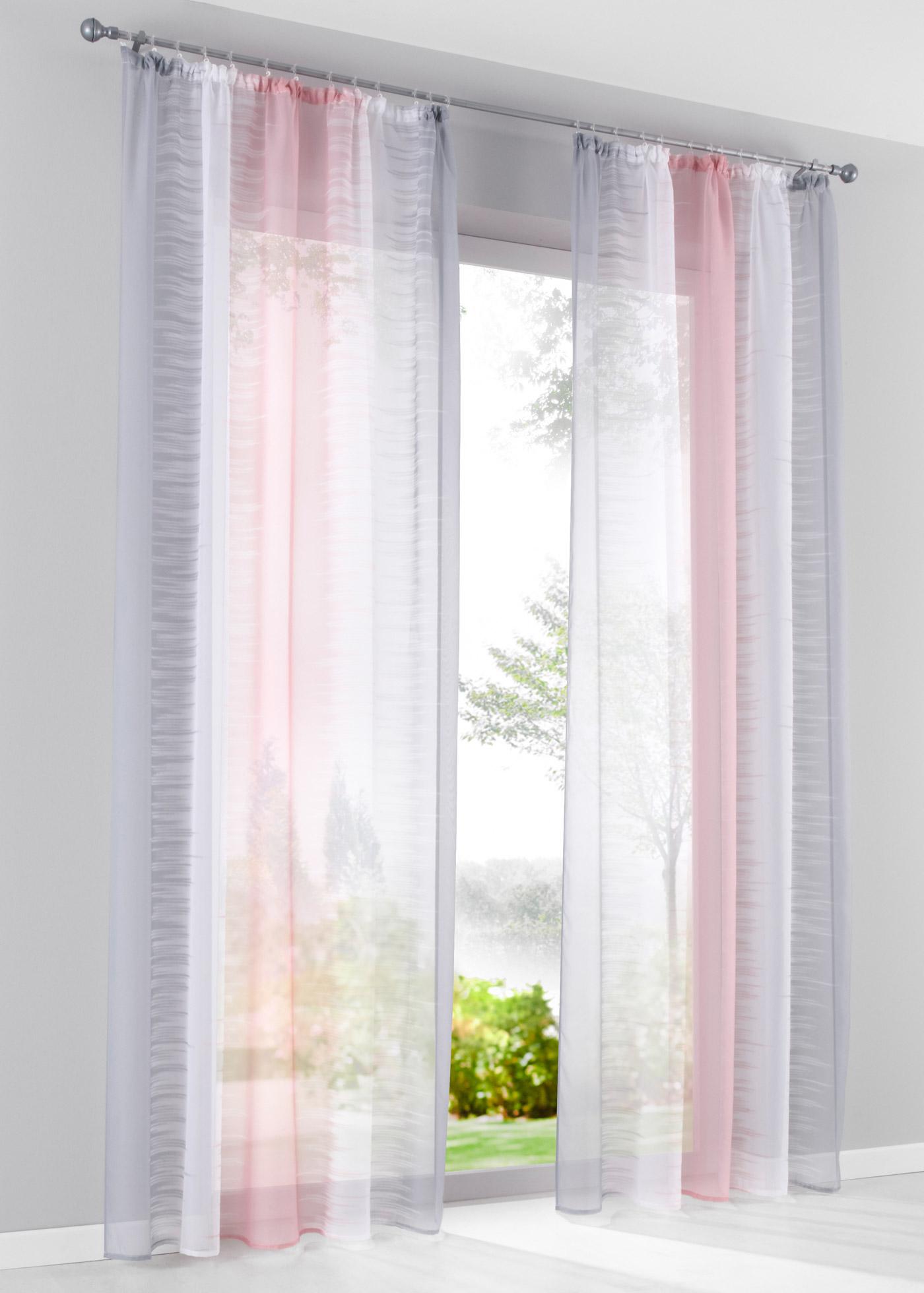 Záclona Rowena (1 ks) - Růžová