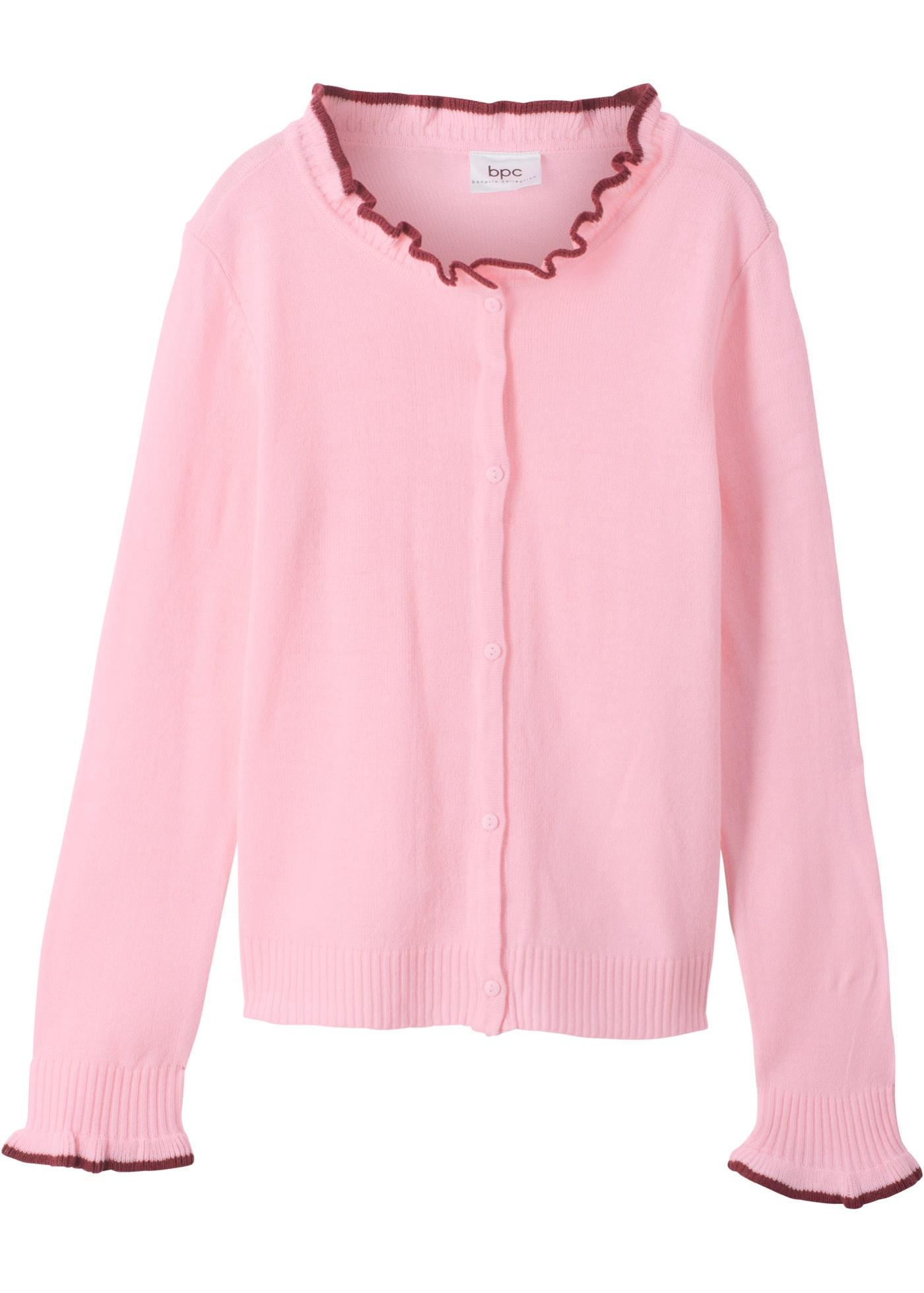 Pletený kabátek - Růžová