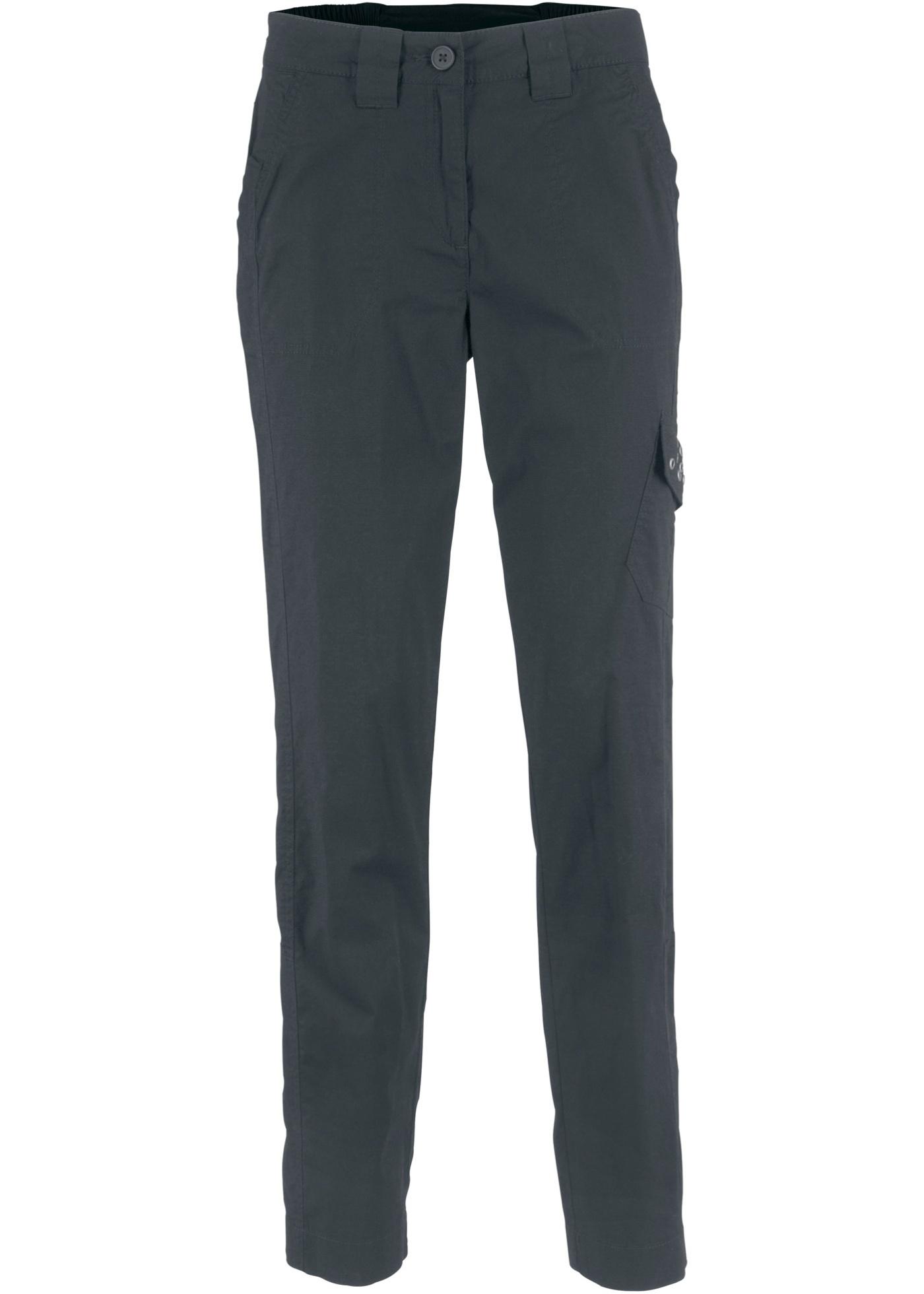 Strečové kargo kalhoty Papertouch - Černá