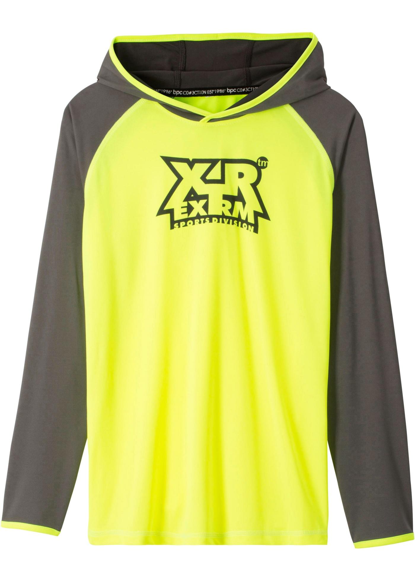 Sportovní tričko s kapucí - Žlutá