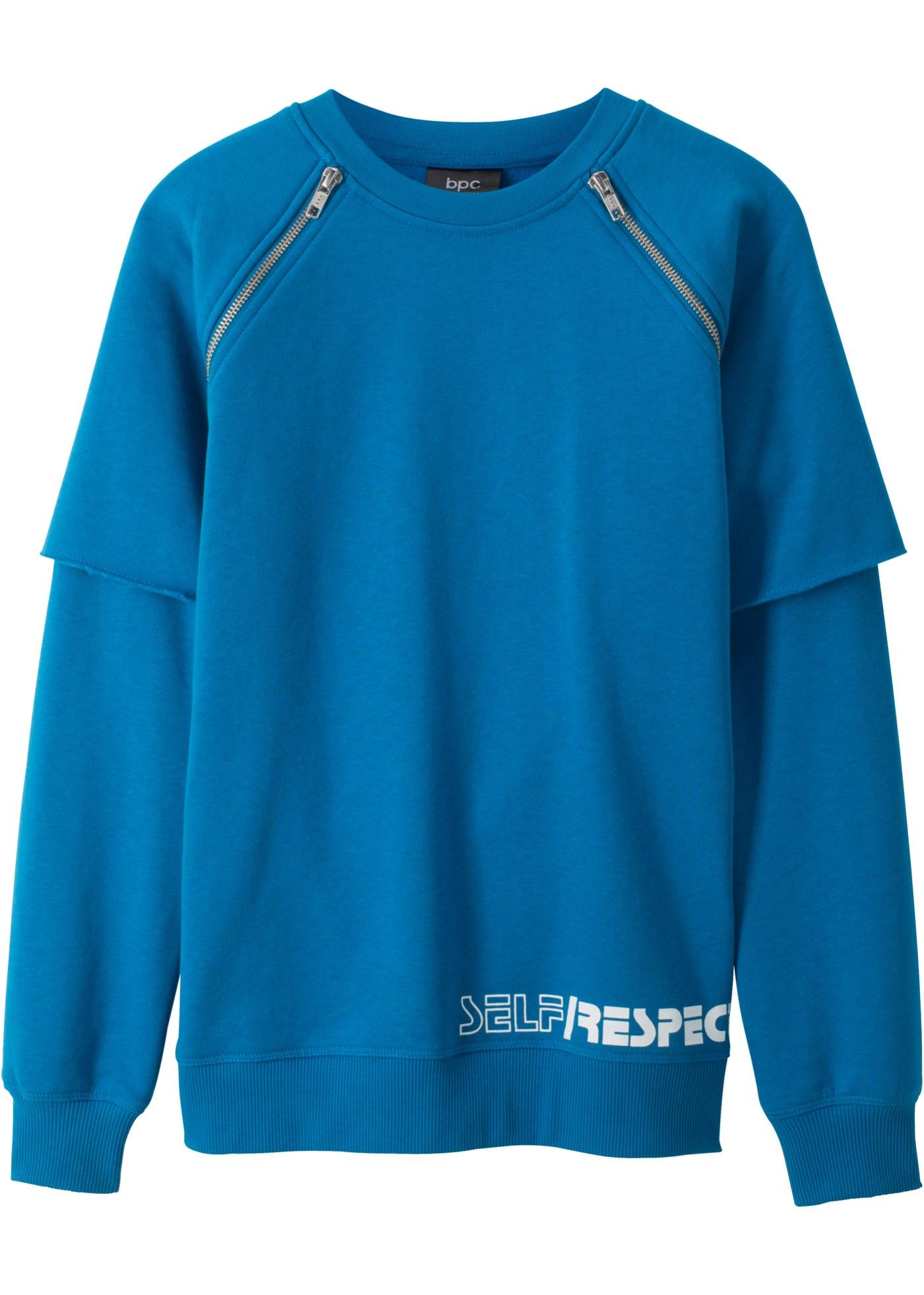 b5ef4b53ffd0 Vícevrstvé tričko se zipem - Modrá