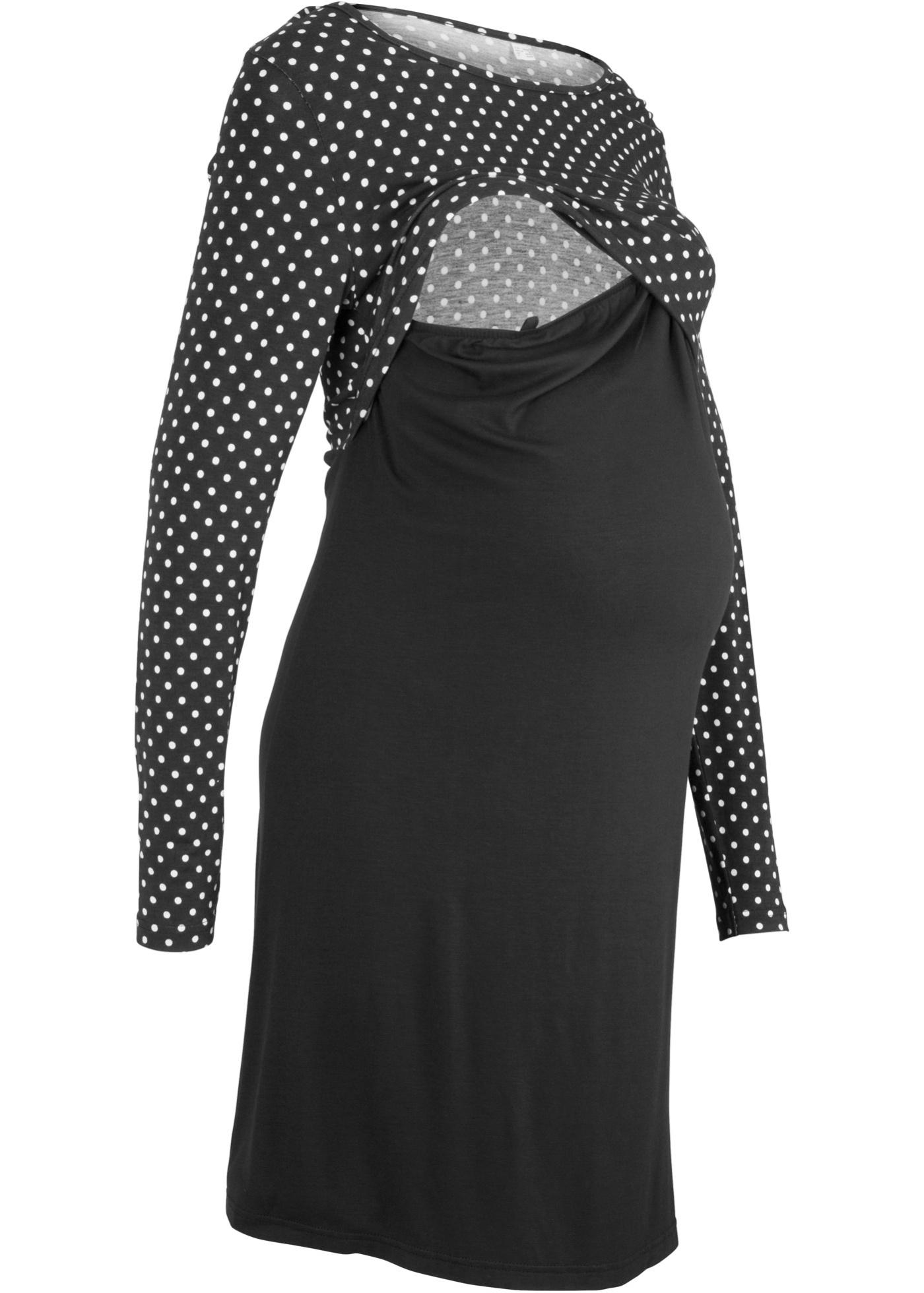 Těhotenské/kojicí šaty - Černá