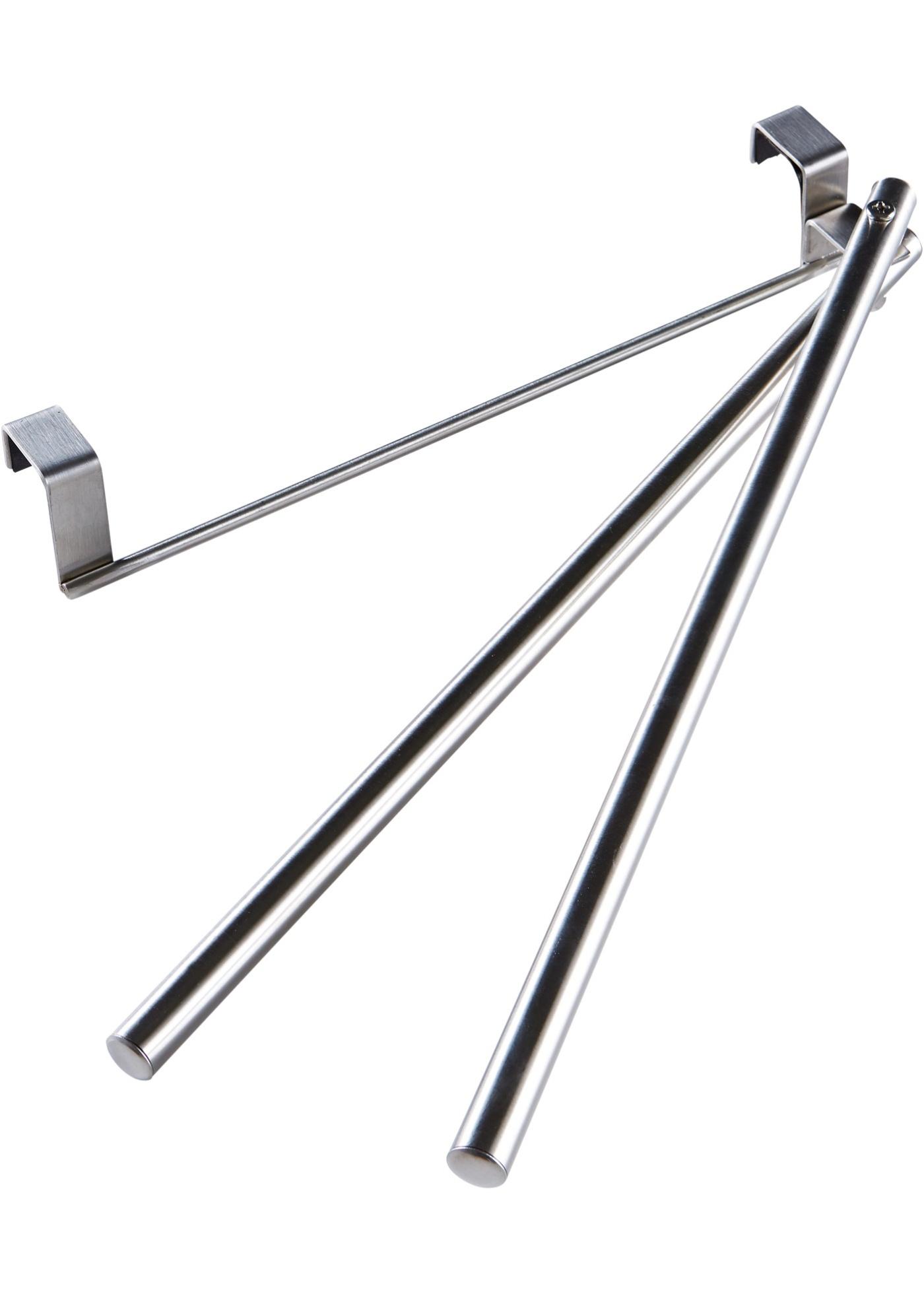 Závěsný držák na ručníky s pohyblivou tyčí - Stříbrná