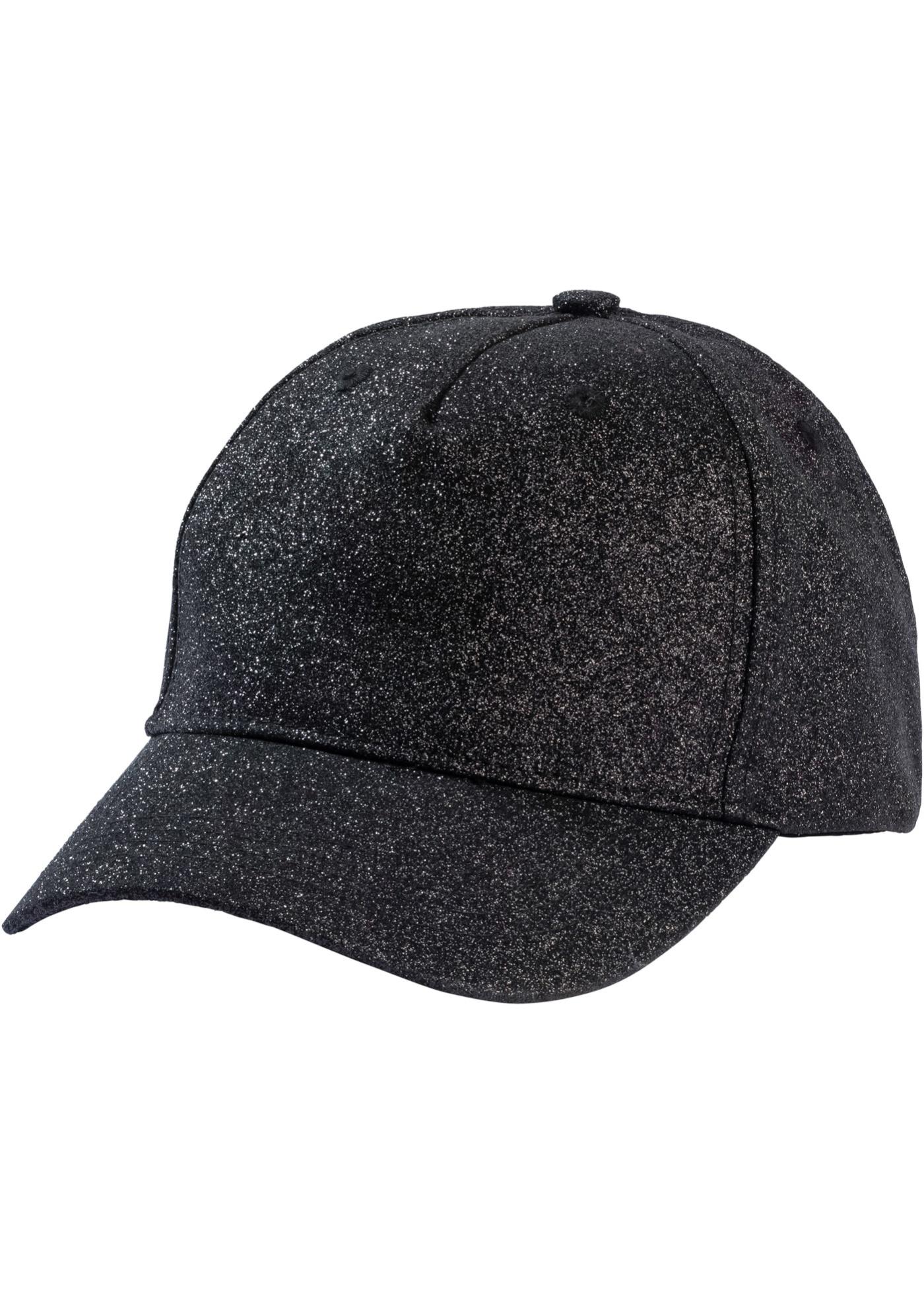 Čepice s kšiltem Lesklá - Černá