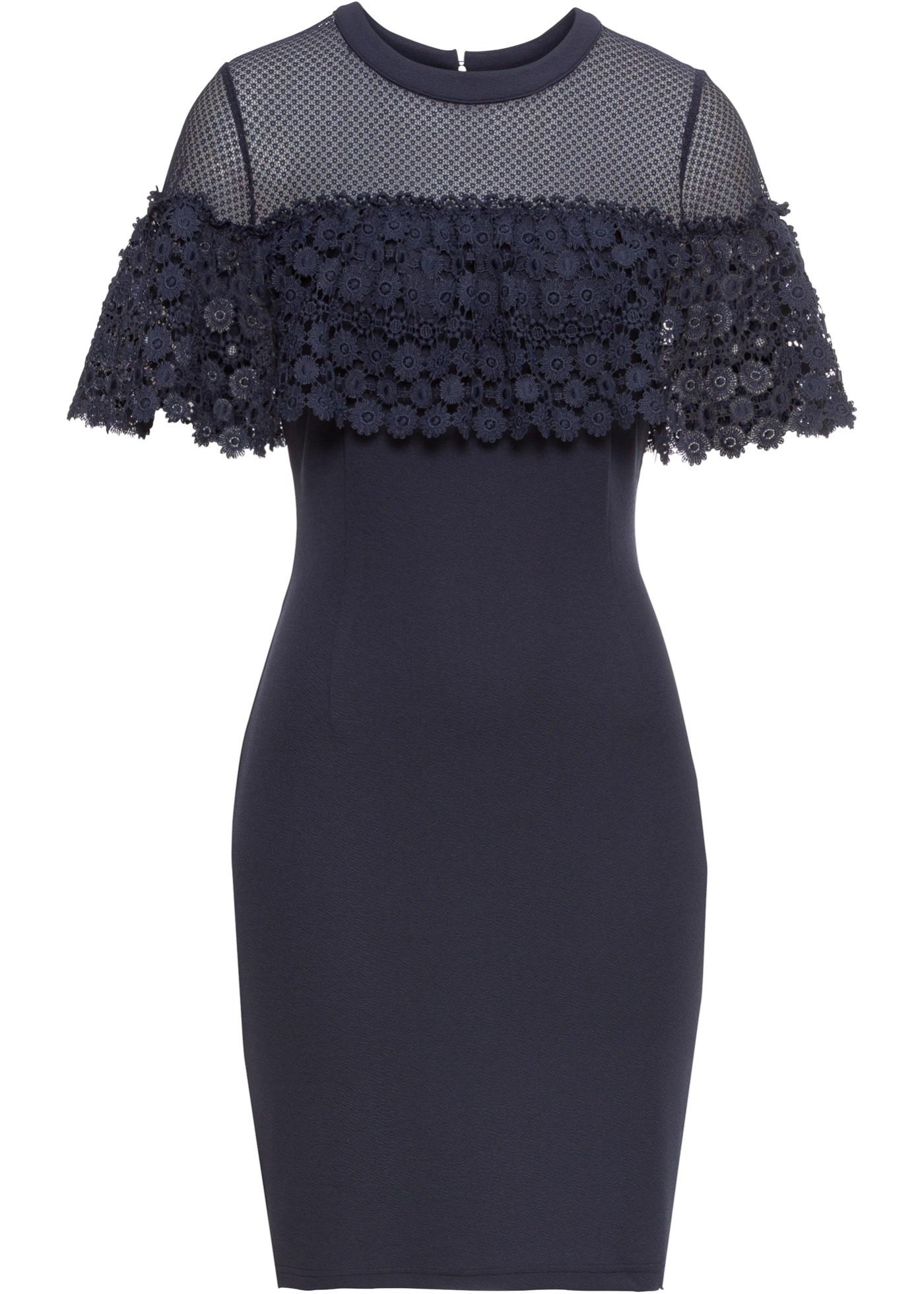6445a7232a50 Krajkové šaty - Modrá