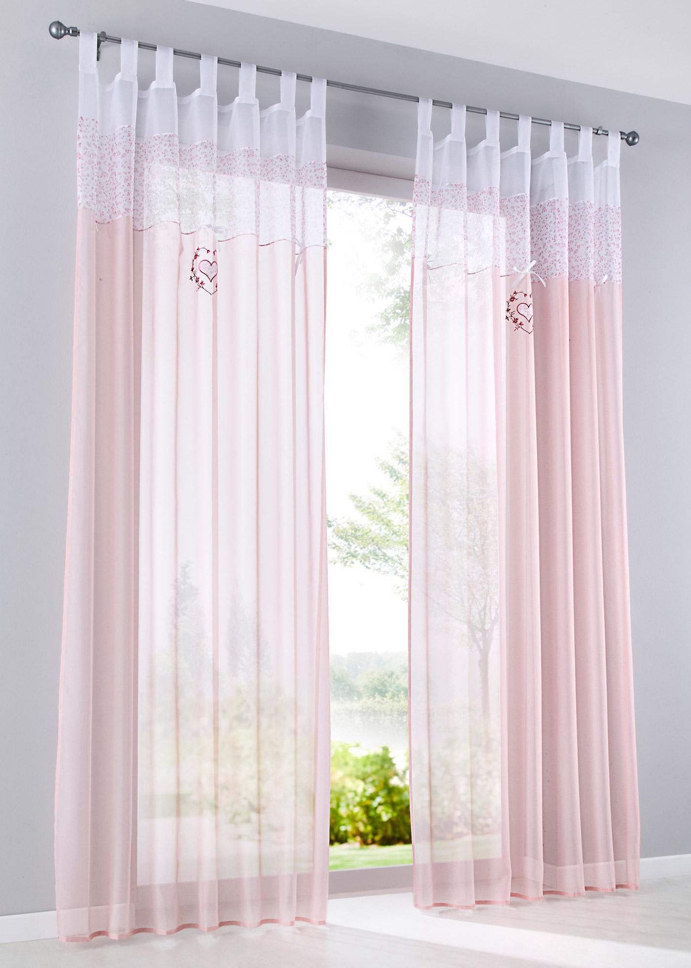 Záclona Christa (1 ks v balení) - Růžová