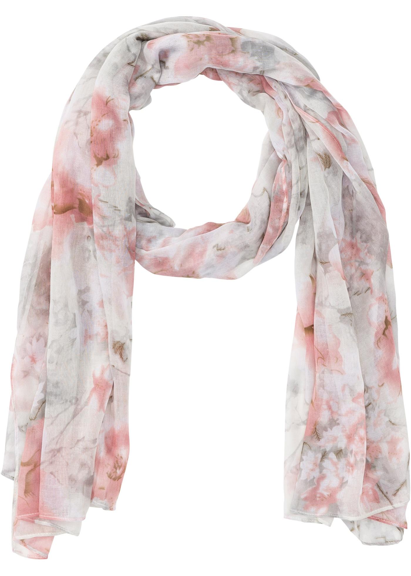 Šátek s květy - Béžová 78ce3cc437