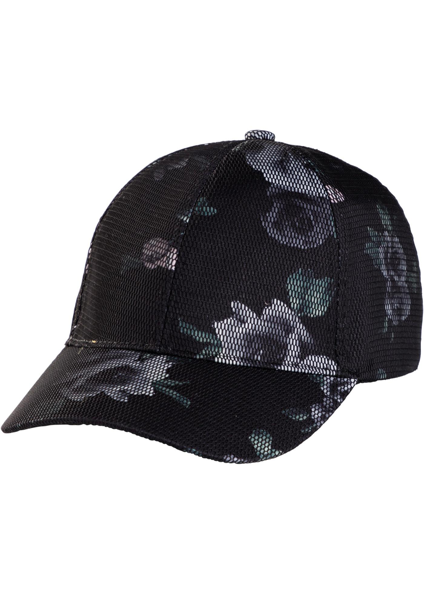 Čepice s kšiltem v síťovaném vzhledu - Černá