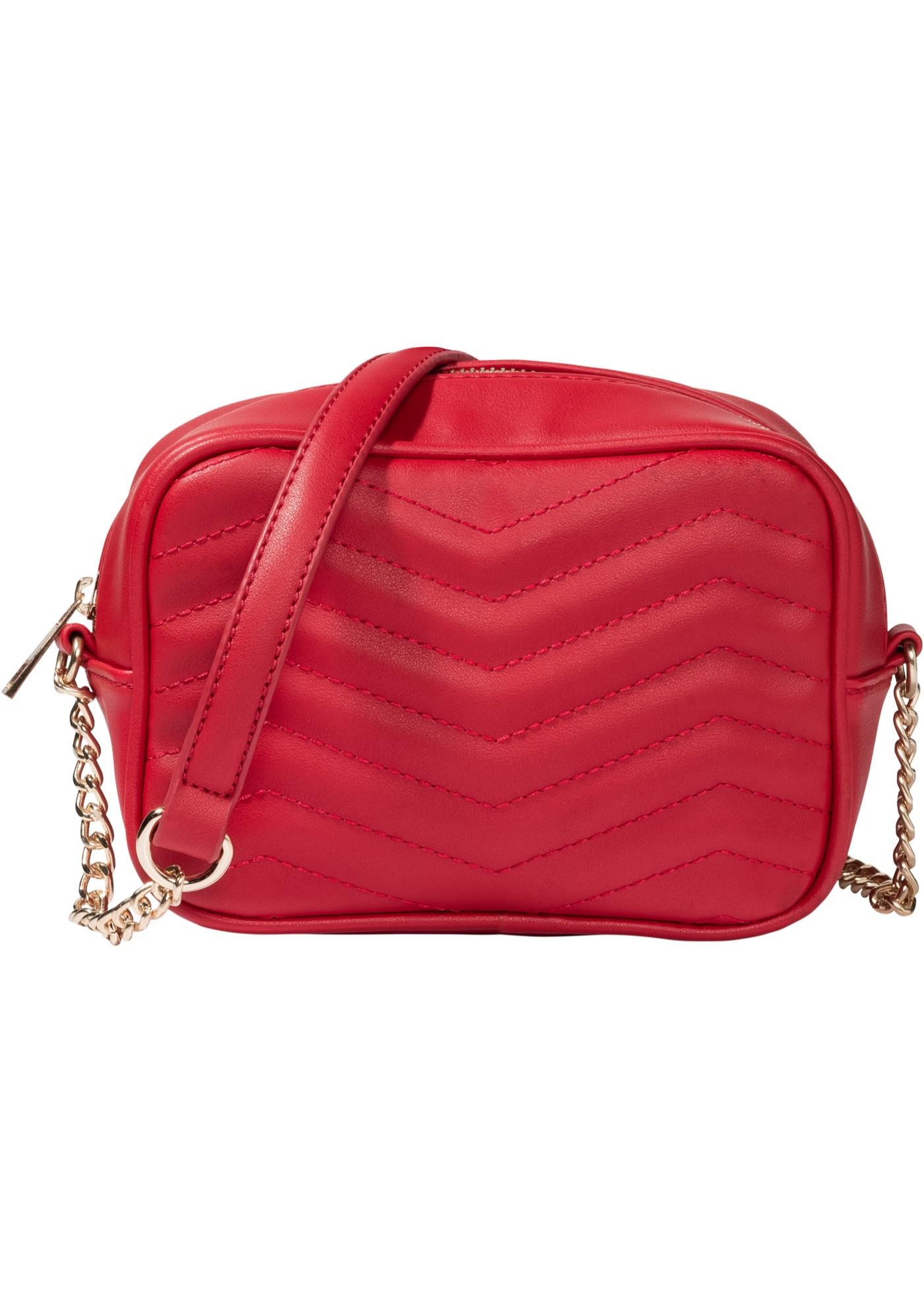 Prošívaná kabelka přes rameno - Červená db455296baf