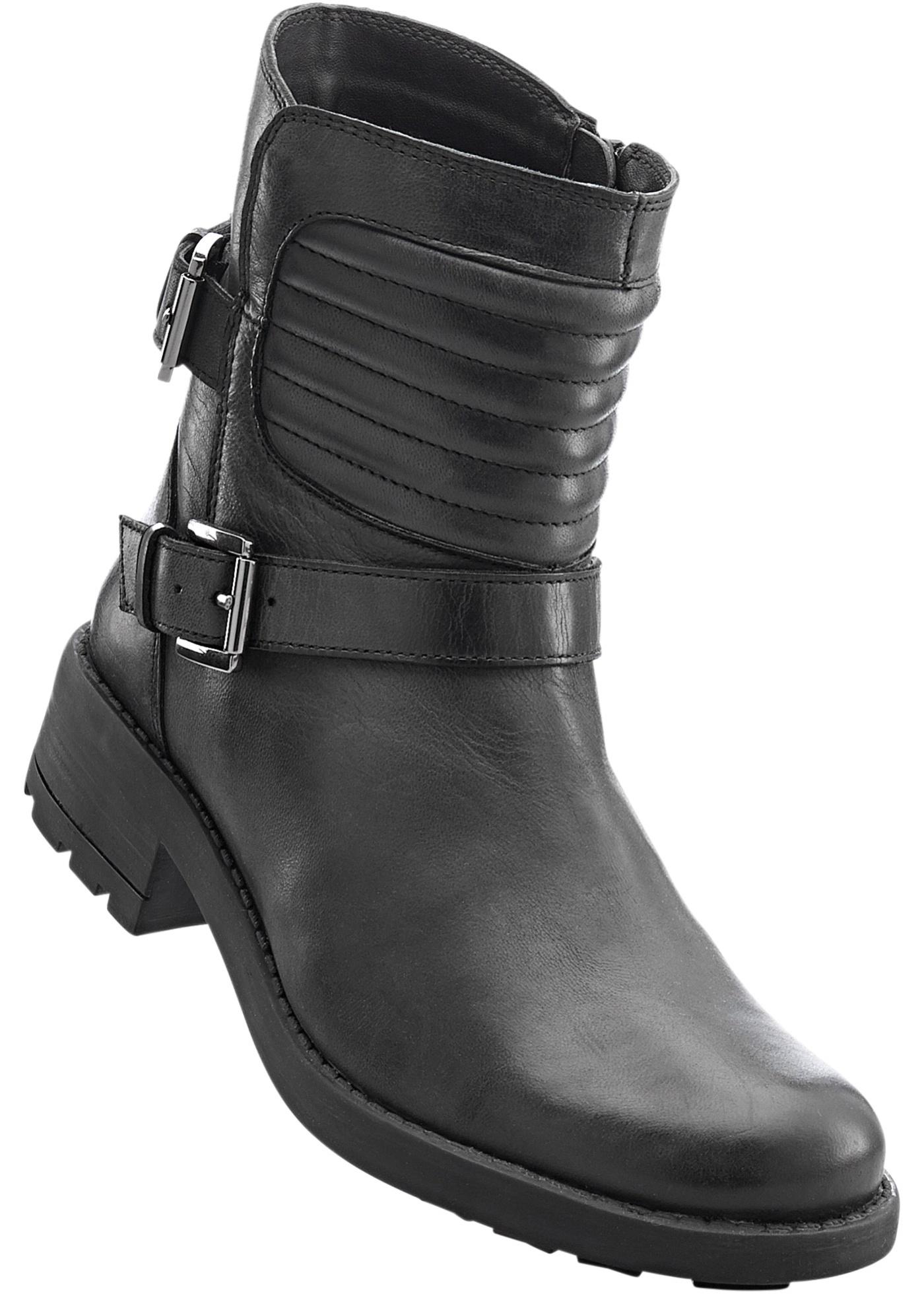 Kožená obuv - Černá