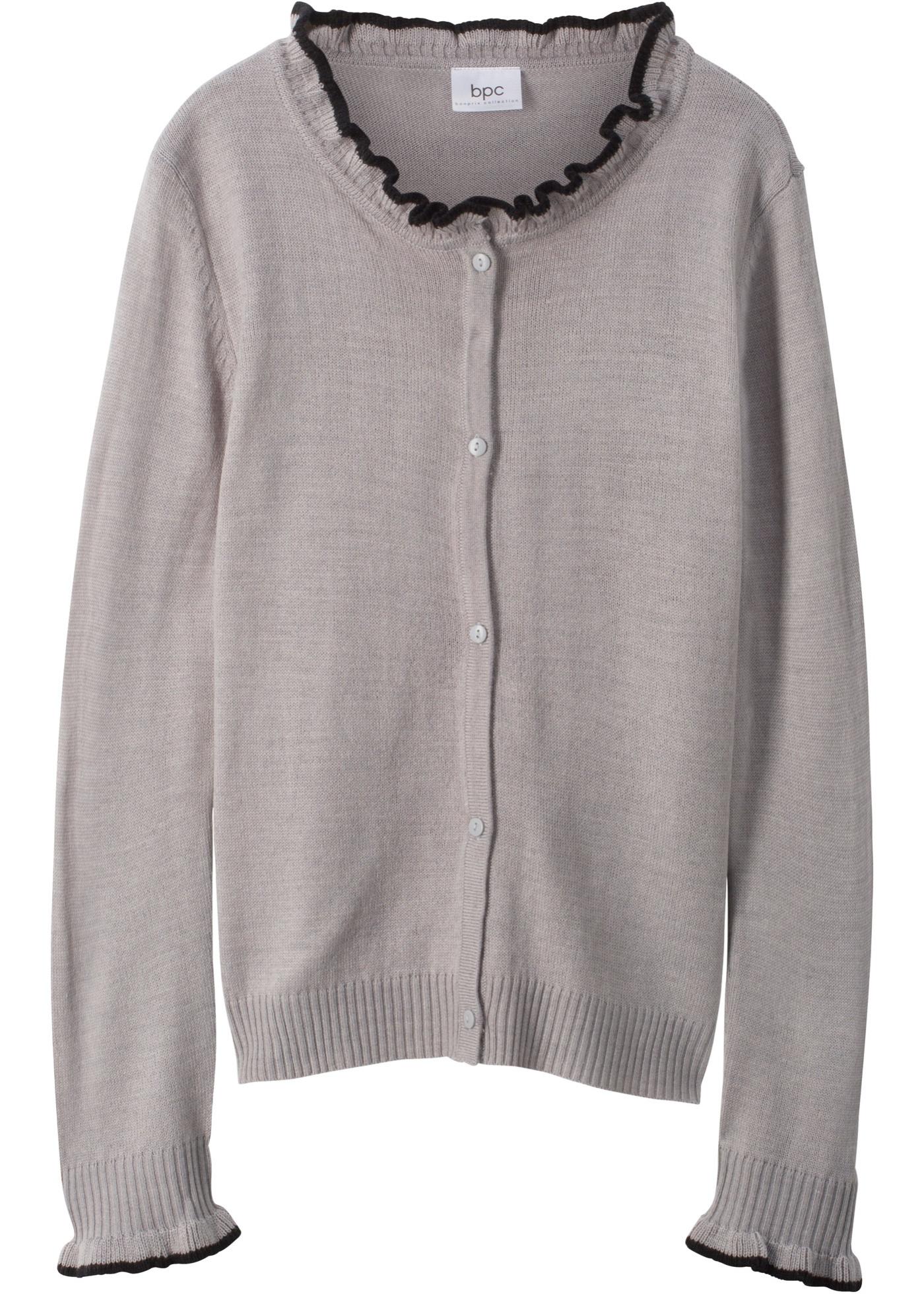 Pletený kabátek - Šedá