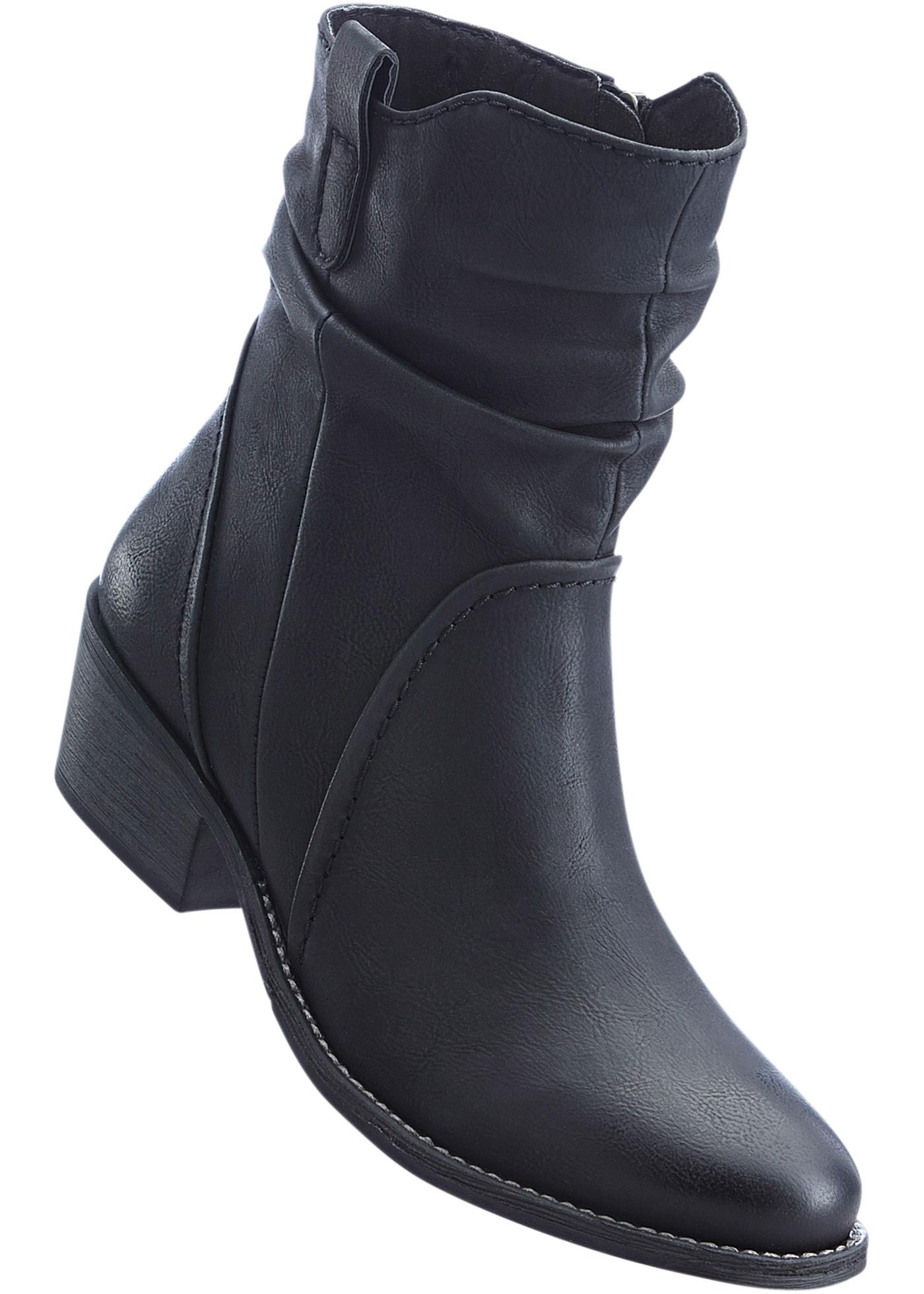 Kotníčková obuv - Černá