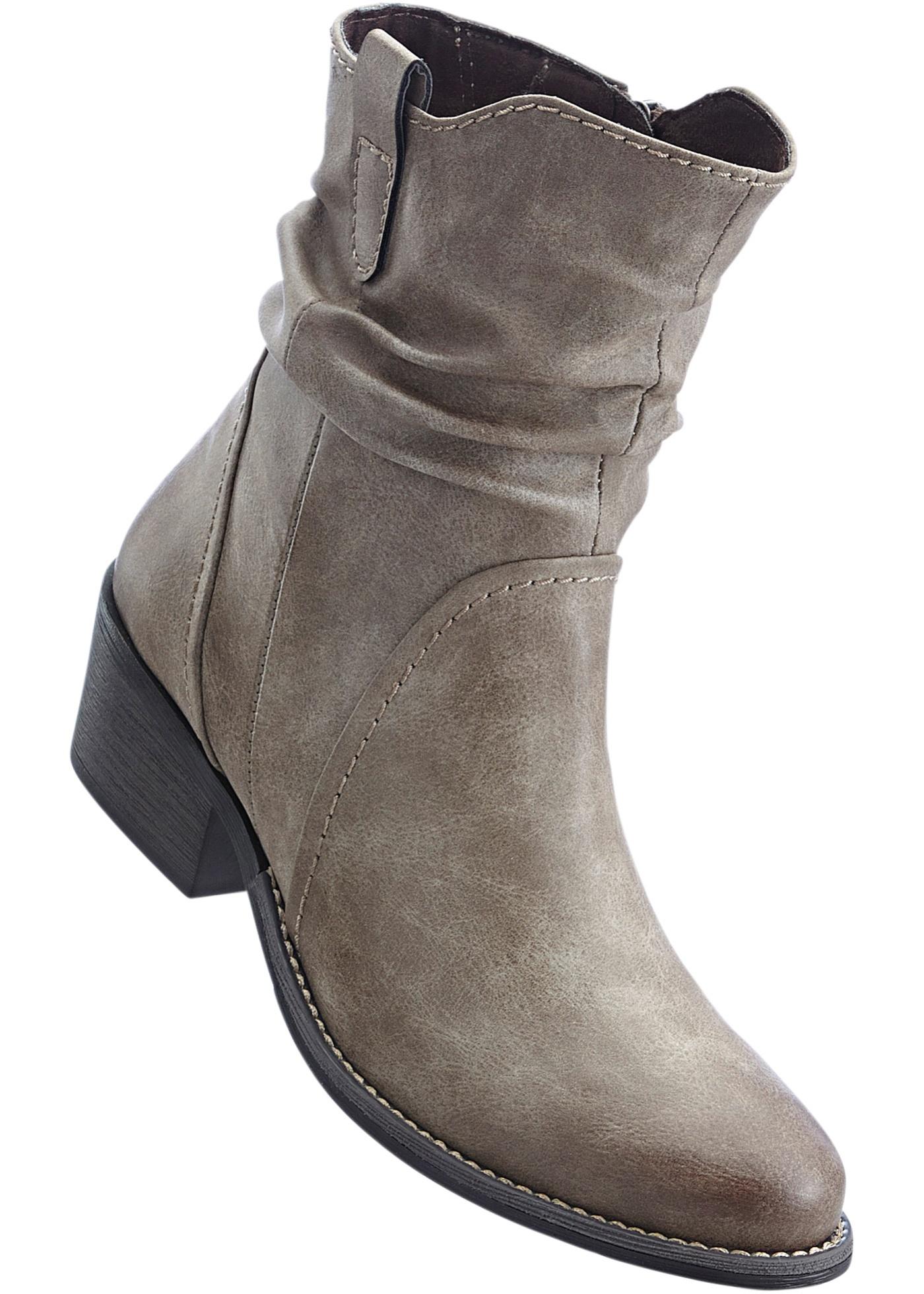 Kotníčková obuv - Hnědá
