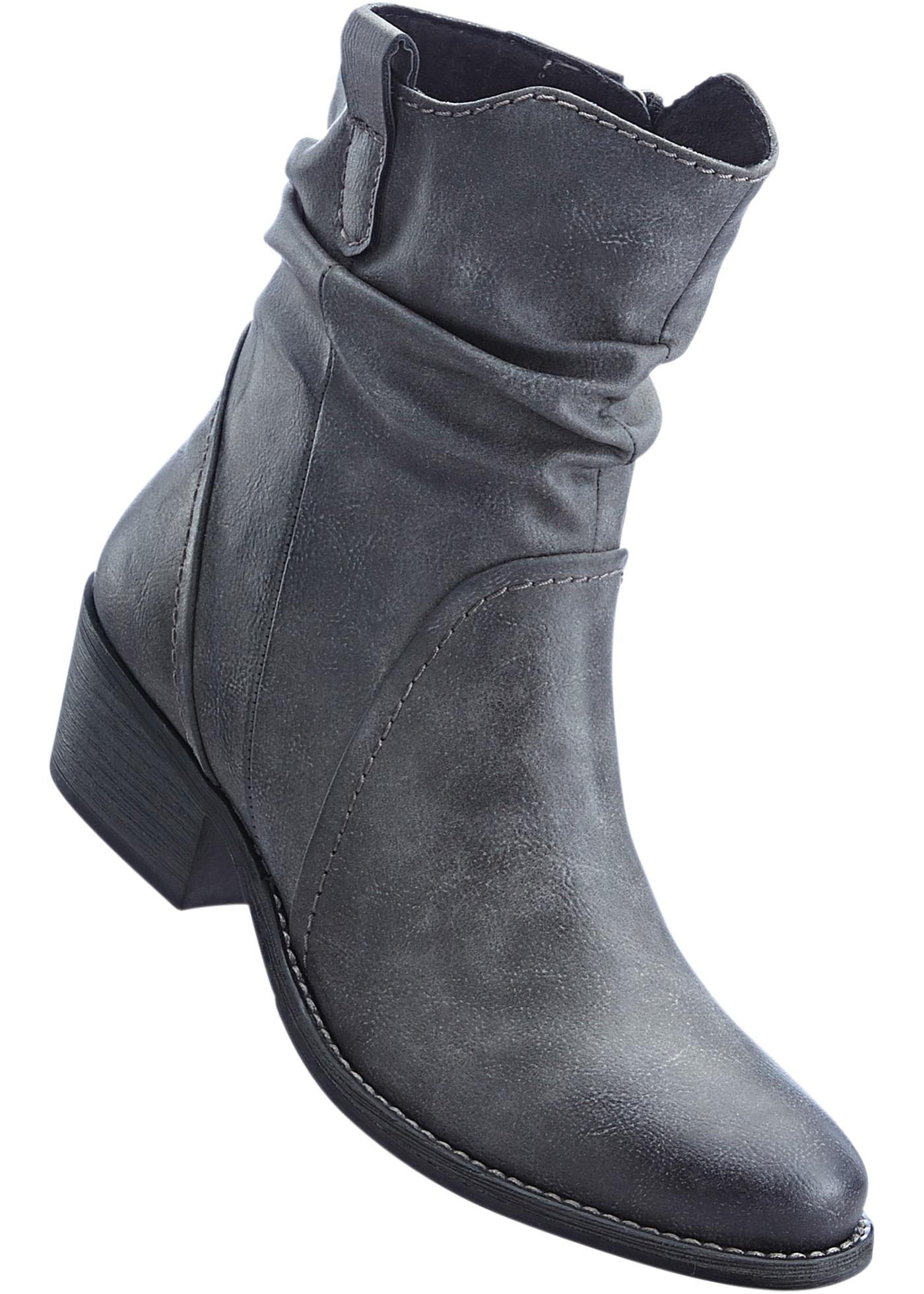 Kotníčková obuv - Šedá