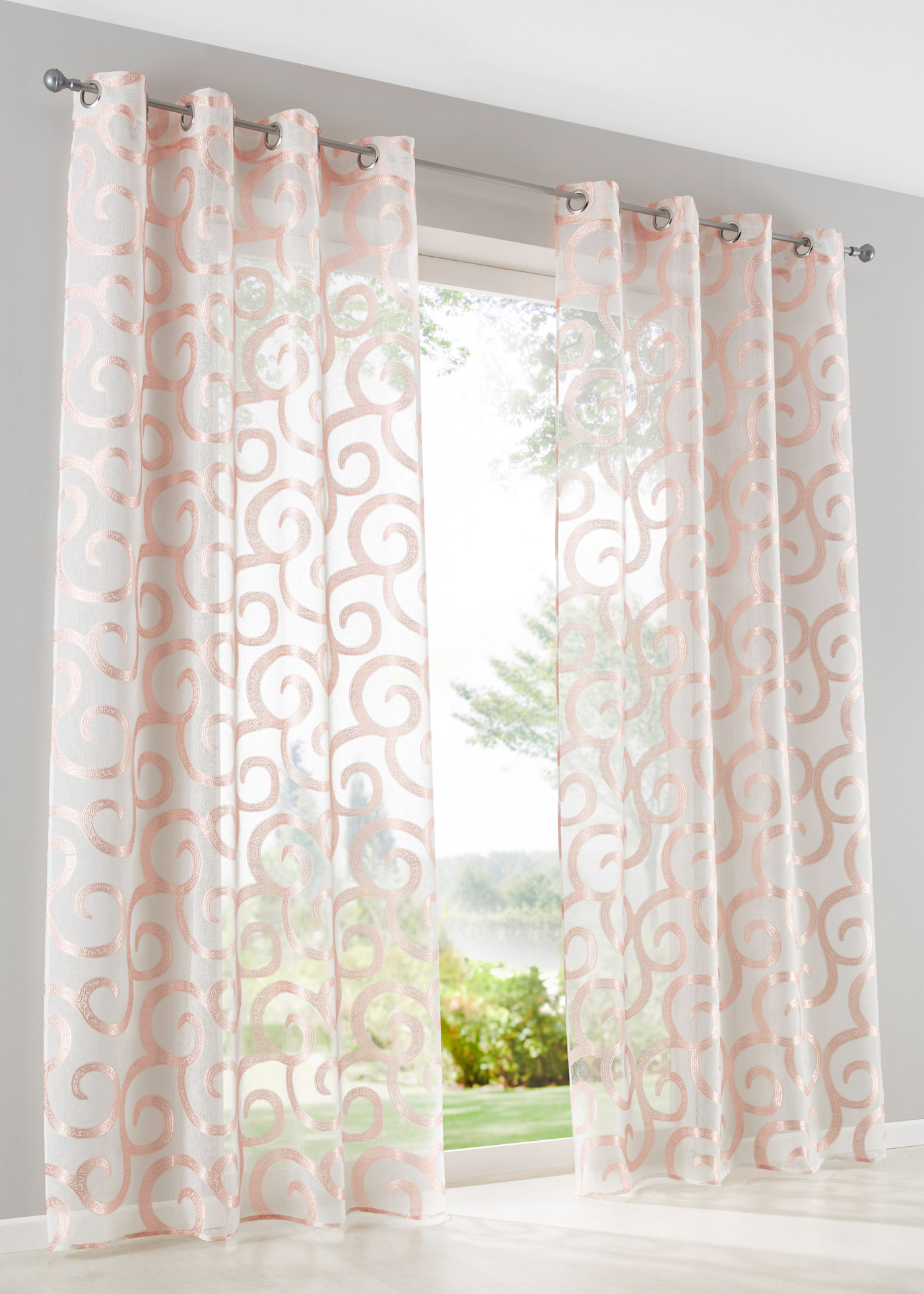 Záclona ''Luzern'' (1 ks) - Růžová