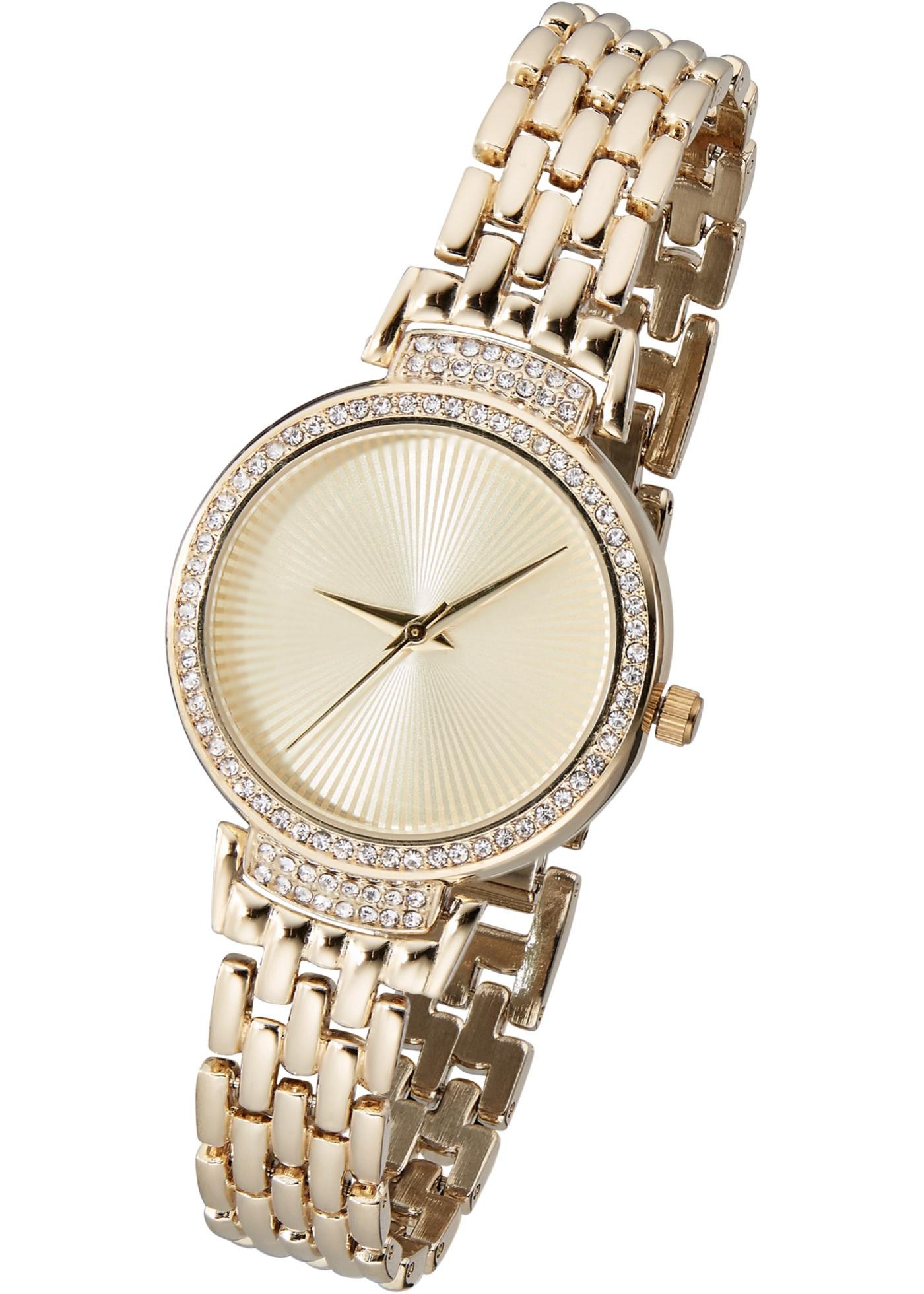 Kovové náramkové hodinky - zlatá 894c9b9d77