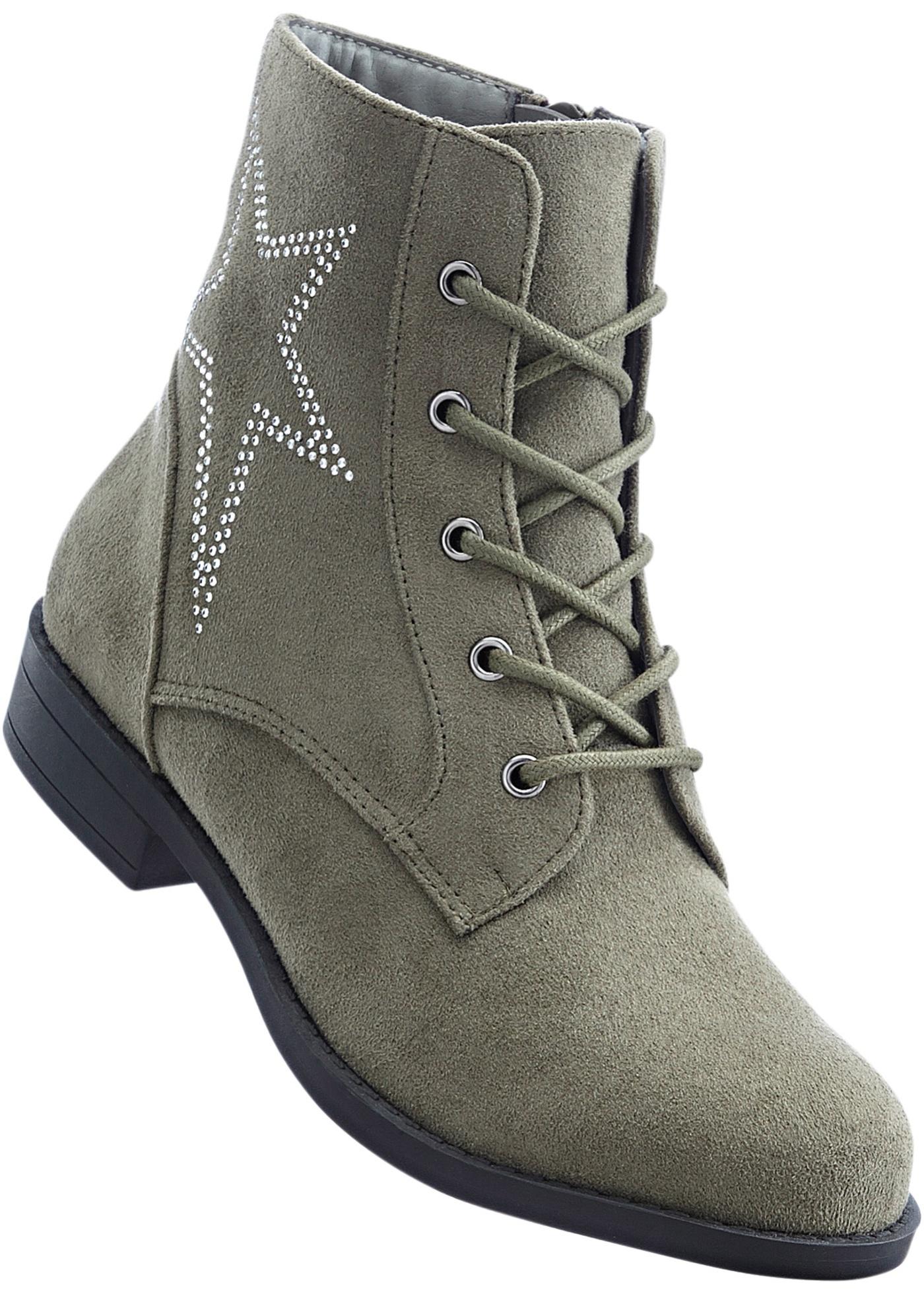 Šněrovací kotníčková obuv - Zelená