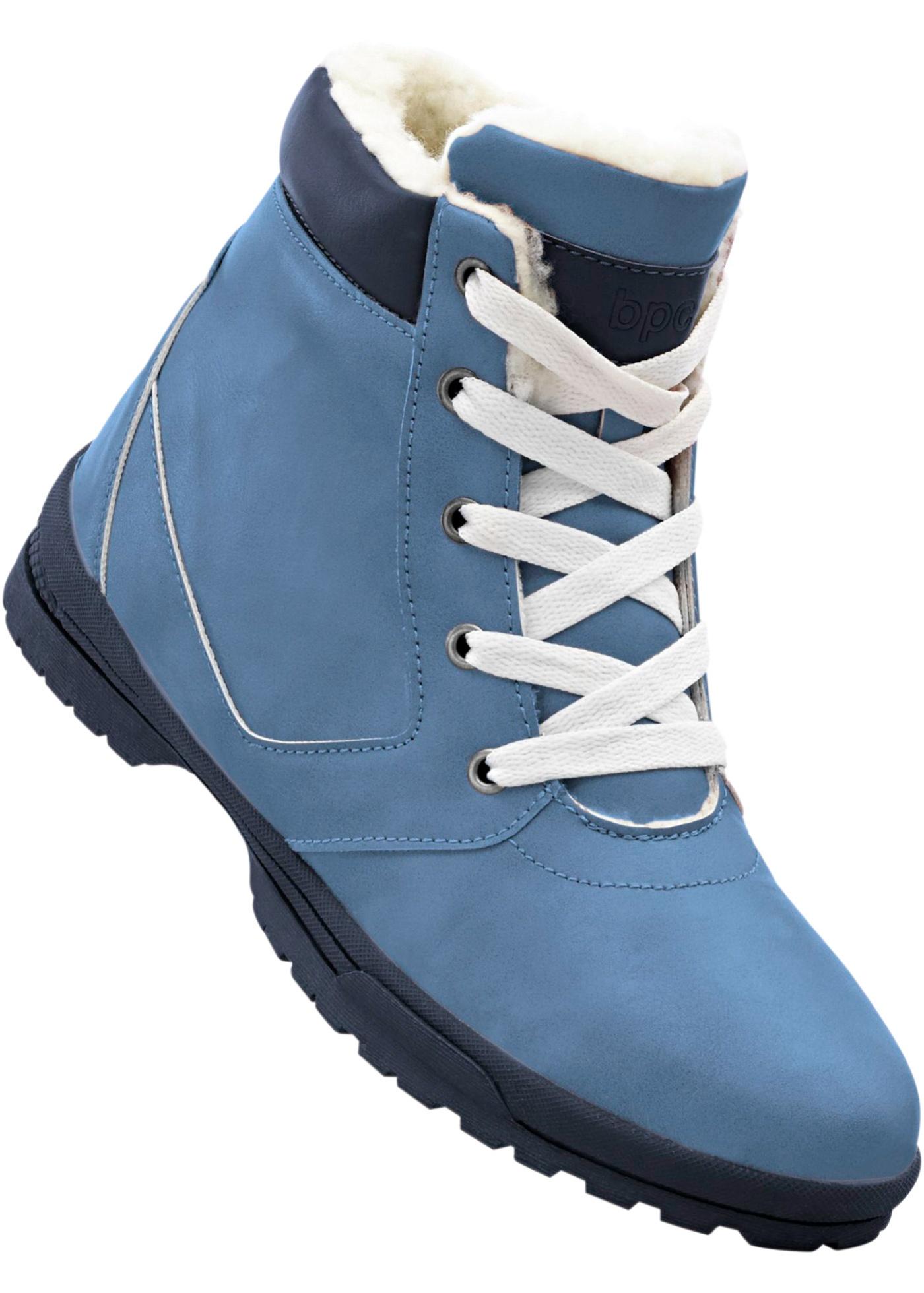 Zimní obuv na šněrování - Modrá