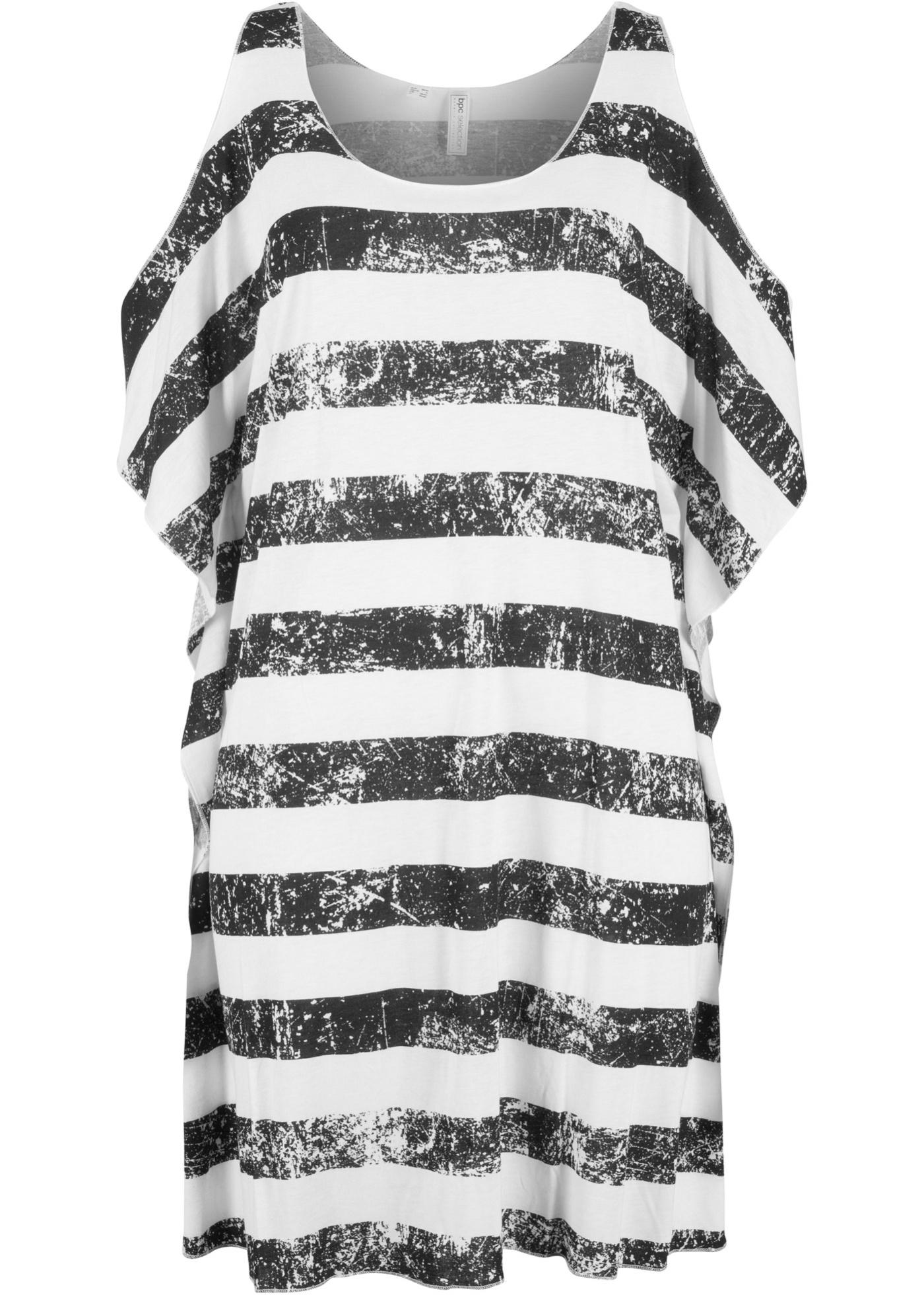 Levné Plážové tričko   Černá barva šatů