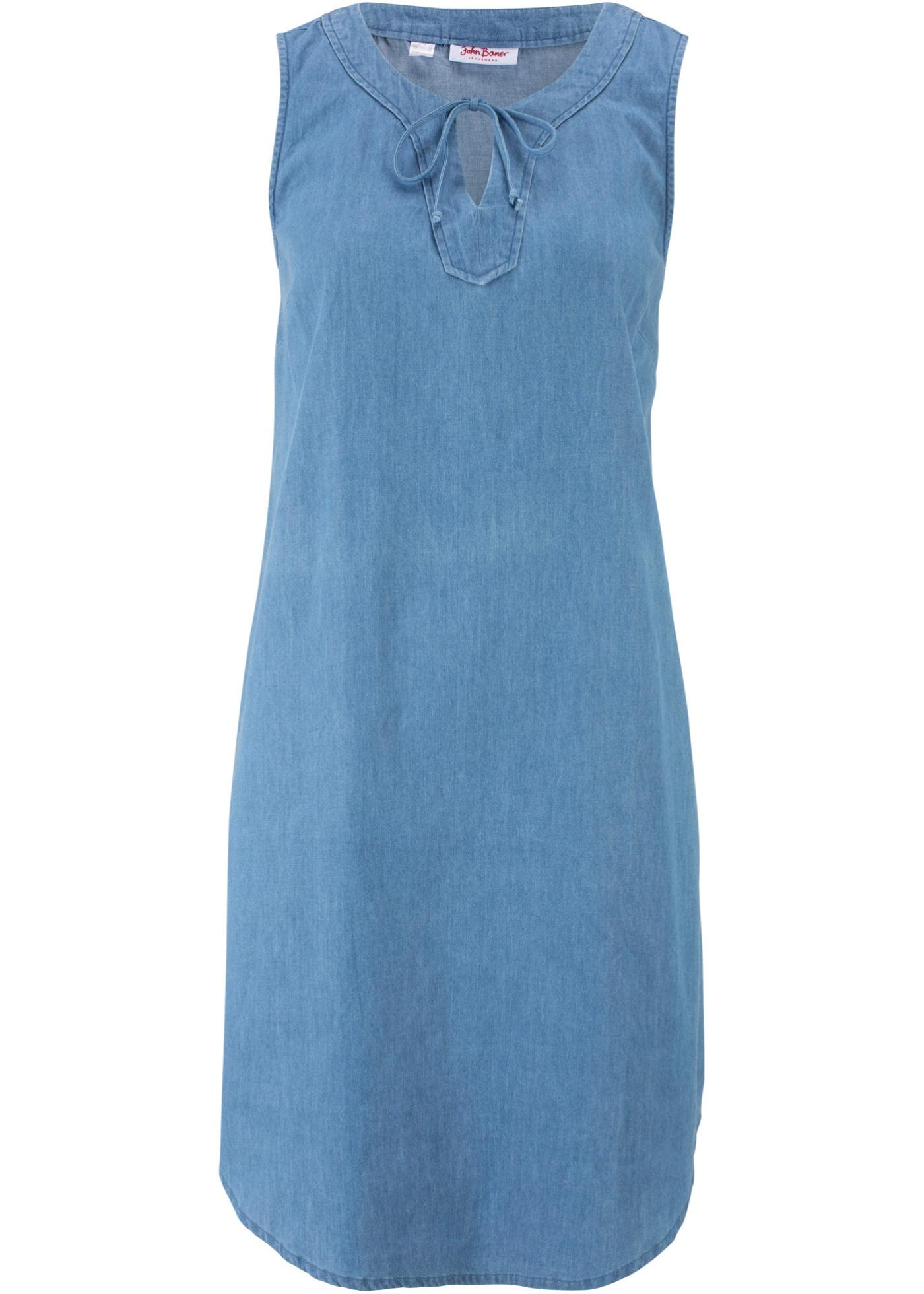 Levné Džínové šaty   Modrá barva šatů