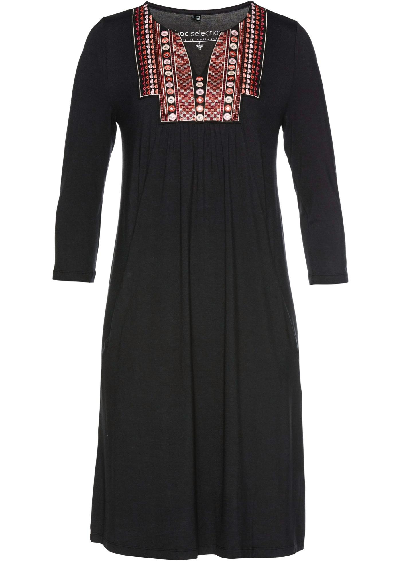 Levné Úpletové šaty | Černá barva šatů