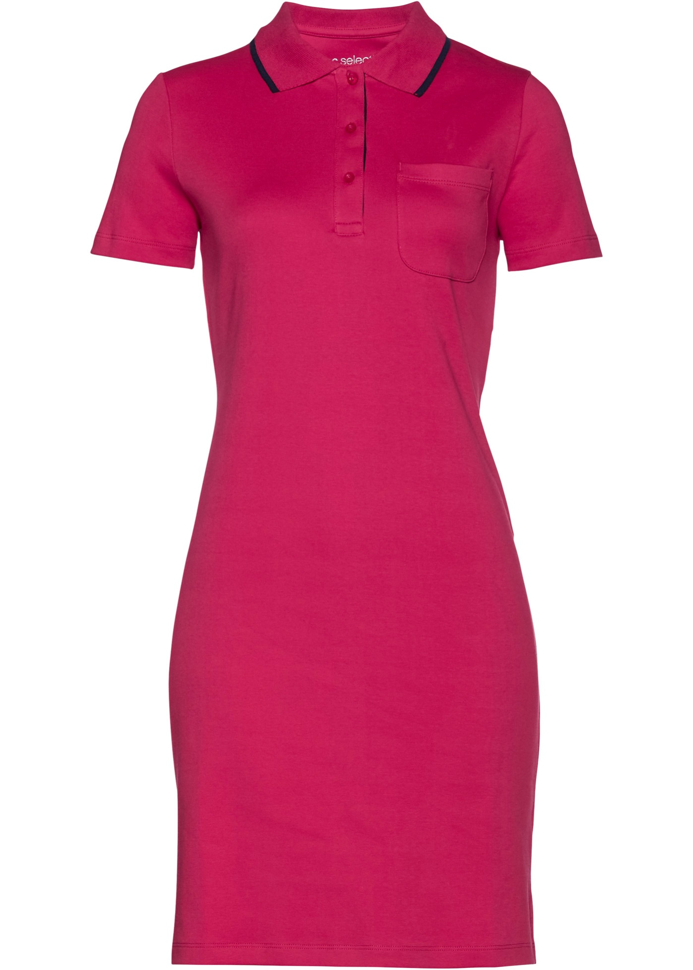 Levné Úpletové šaty polo   Pink barva šatů
