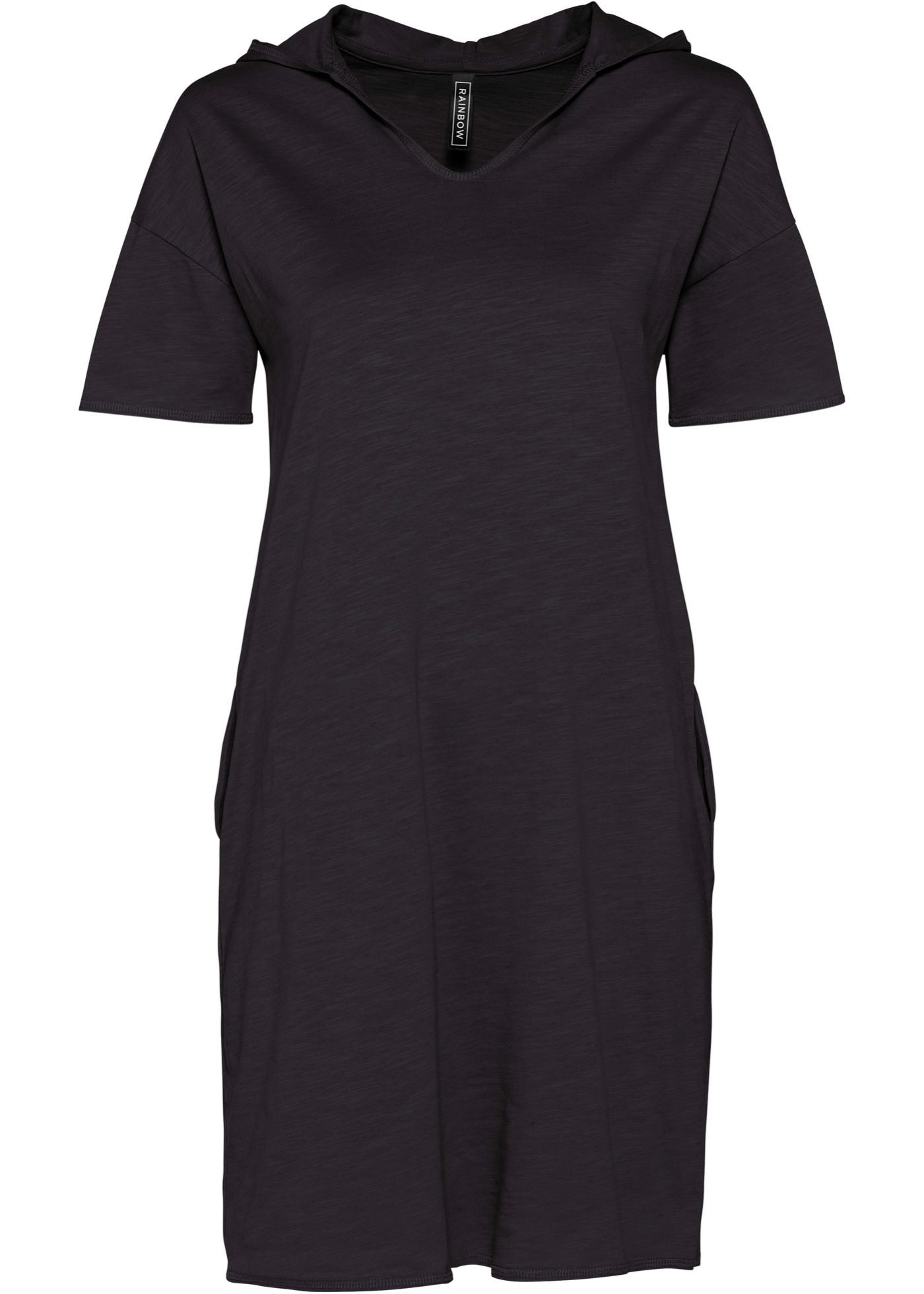 Levné Úpletové šaty   Černá barva šatů