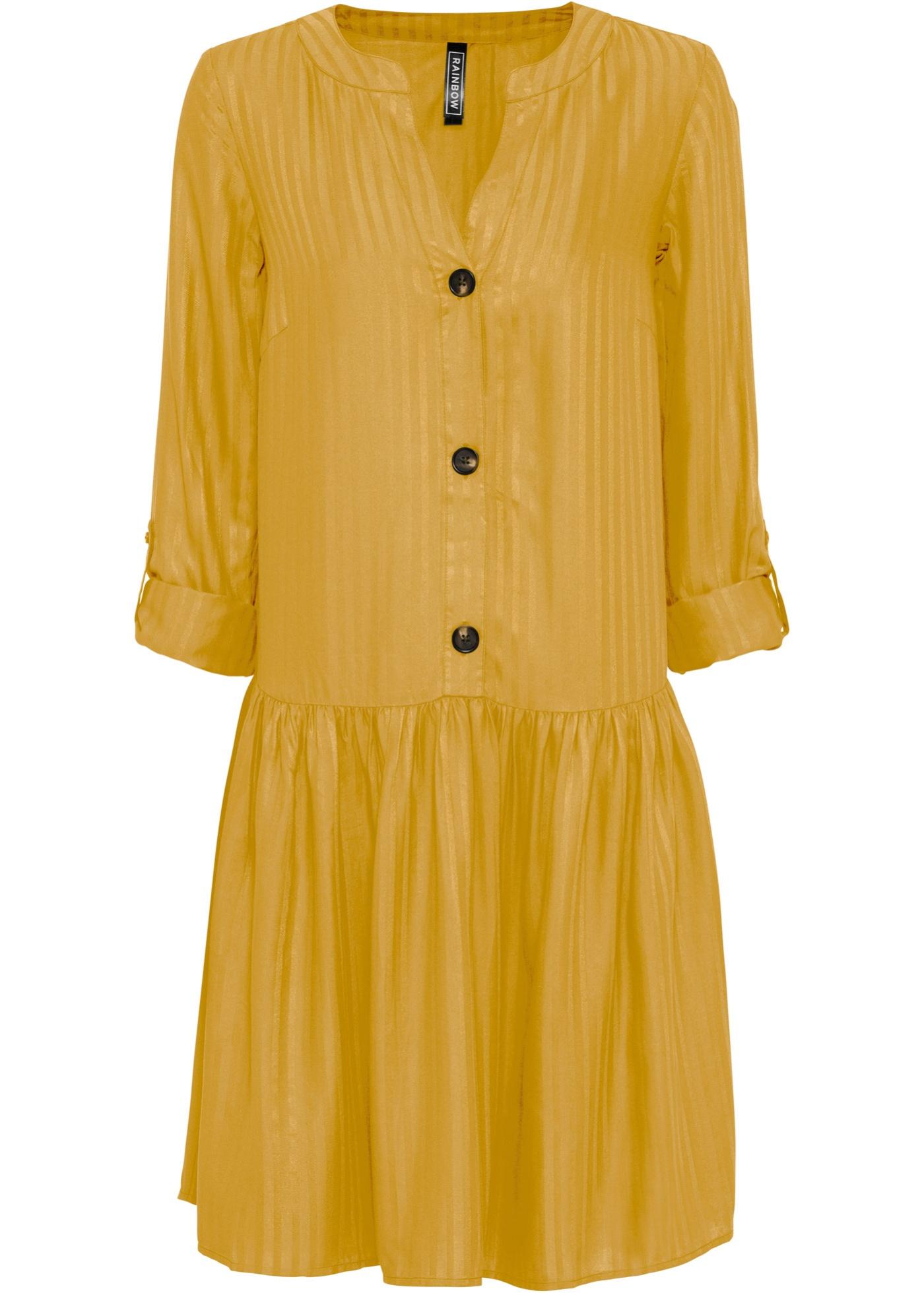 Levné Košilové šaty | Žlutá barva šatů