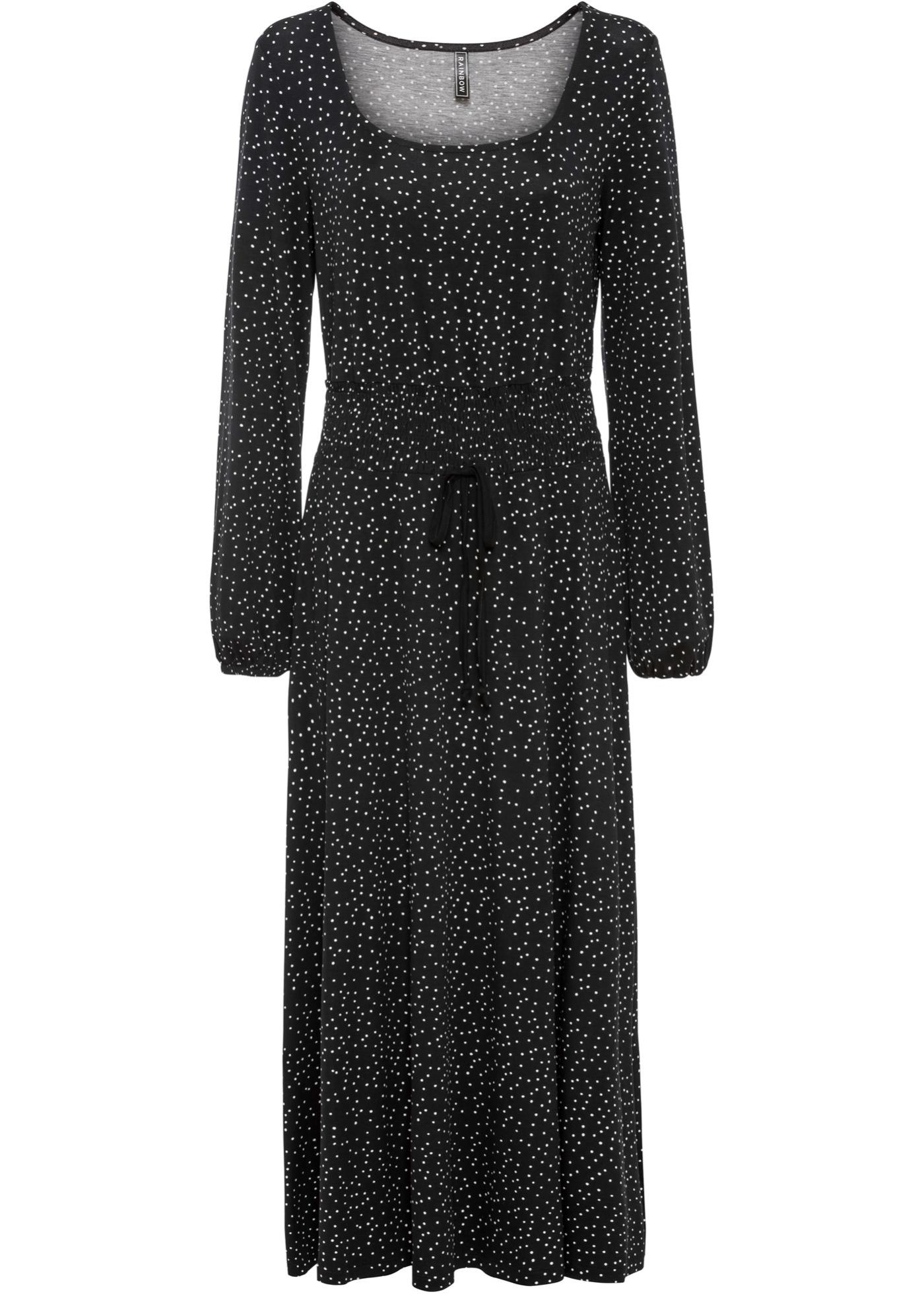 Levné Žerzejové šaty   Černá barva šatů